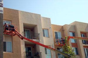Expert boom lift window cleaning operations