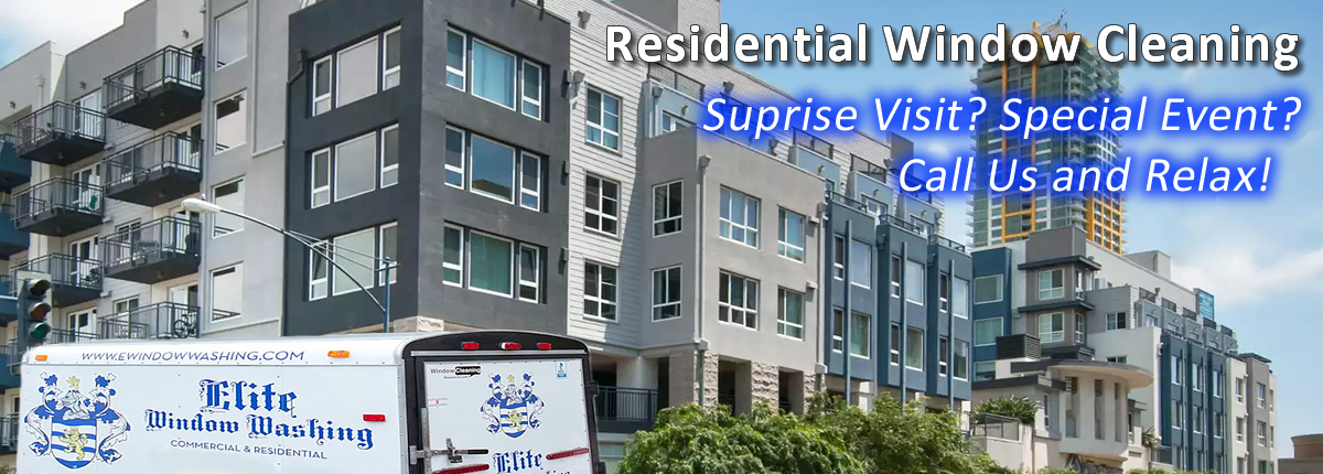 Residential window cleaning professionals of San Diego